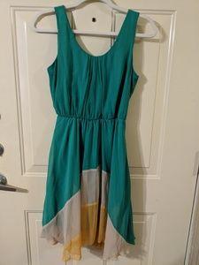 Dresses & Skirts - Boutique Green Yellow Cream Dress